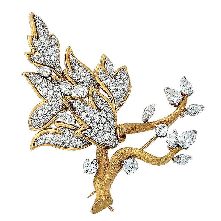 5.75 Carat Diamond Brooch