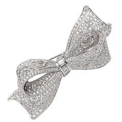 Sophia D. 5.50 Carat Diamond Bow Pin