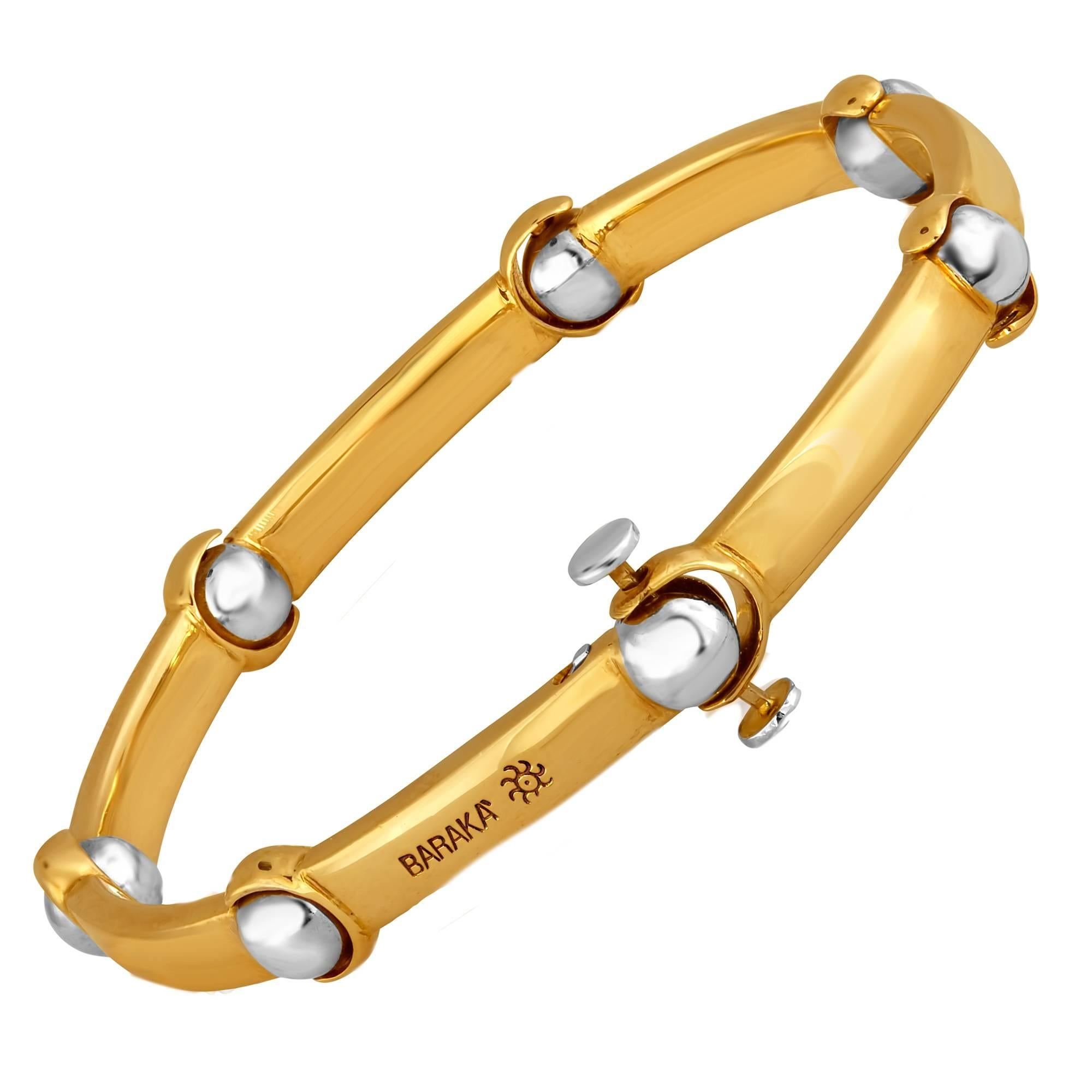 Baraka Two Color Gold Bracelet
