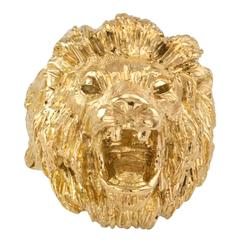 Buccellati Gold Lion Head Ring