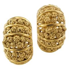 Cartier Gold Earclips