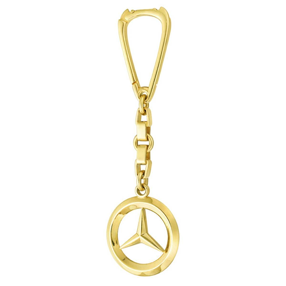 Gold mercedes benz key chain at 1stdibs for Mercedes benz key chain