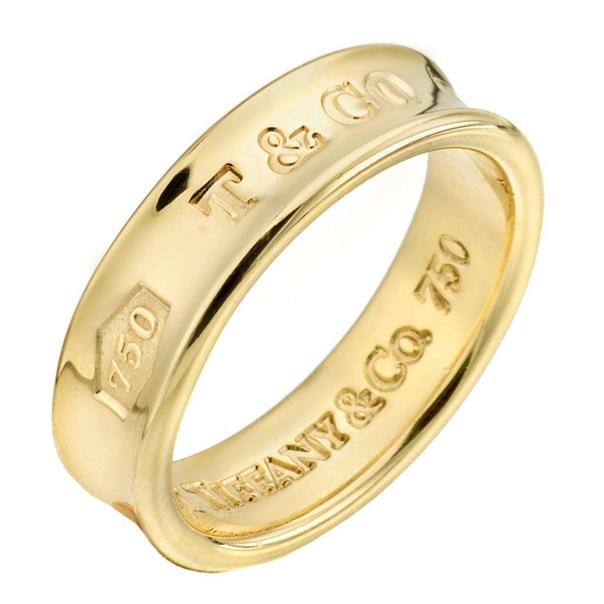 Tiffany And Co 1837 Gold Wedding Band Ring At 1stdibs