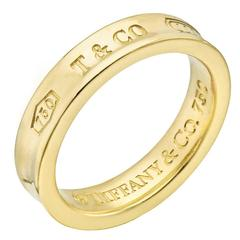 Tiffany & Co. 1837 Wide Gold Wedding Band Ring
