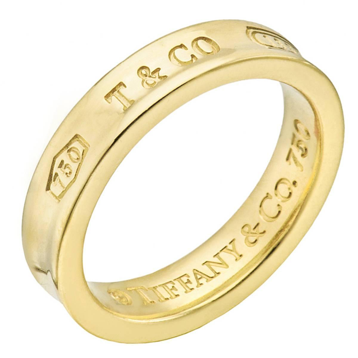 and co 1837 wide gold wedding band ring for sale