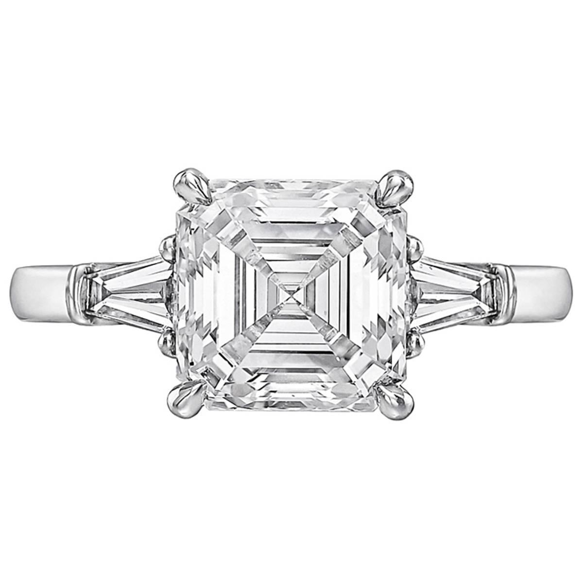 cut ring filigree in sold modern gold jewelers white asscher rings engagement product diamond