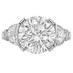 4.03 Carat Round Brilliant Cut Diamond Ring