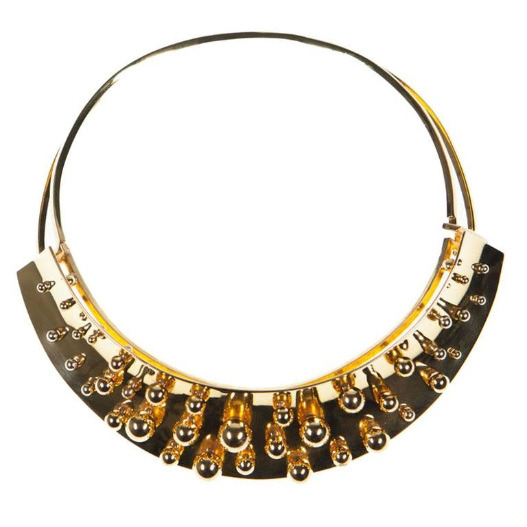 1980s pol bury spheres kinetic necklace