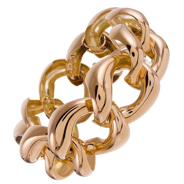 Seaman Schepps Gold Large Link Bracelet 1