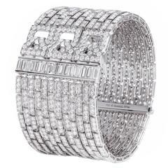 Extraordinary diamond cuff bracelet