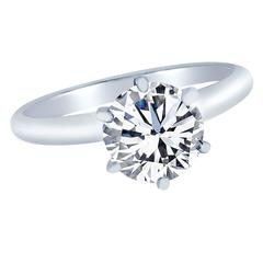 1.51 Carat GIA Cert Diamond gold Solitaire Engagement Ring