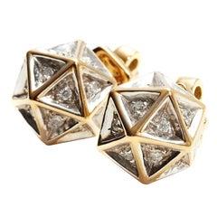 Icoso Diamond 18K Gold Stud Earrings