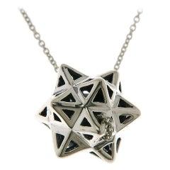Framed Mini Tetra Silver Necklace