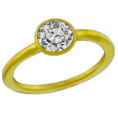 0.66 Carat Diamond gold Solitaire Engagement Ring
