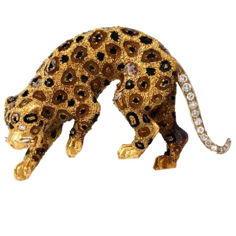Gold Ring Panther With Tree