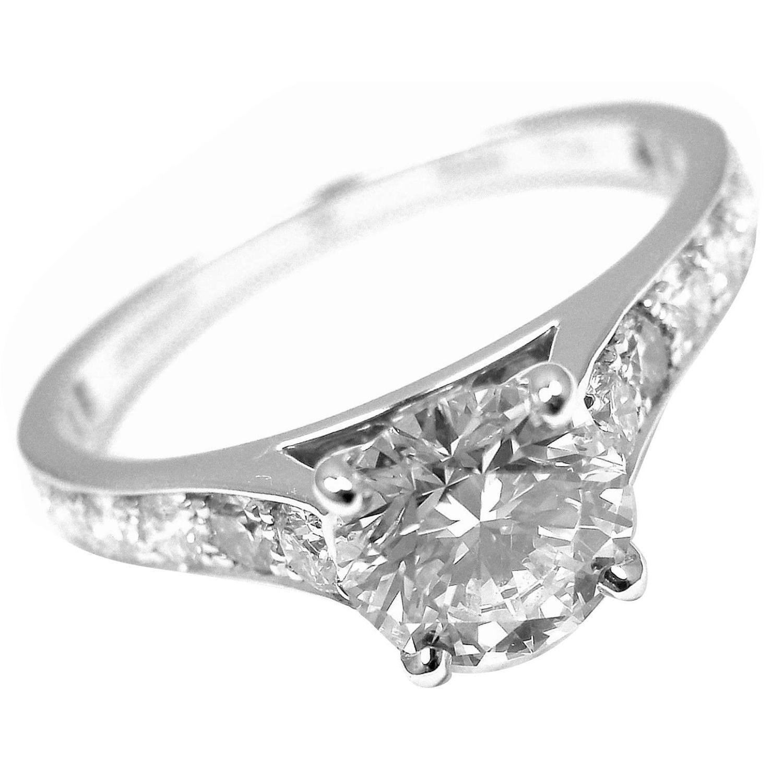 Van Cleef And Arpels Romance Diamond Platinum Engagement Ring At 1stdibs
