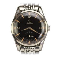 Omega Stainless Steel Seamaster Wristwatch on Original Omega Bracelet