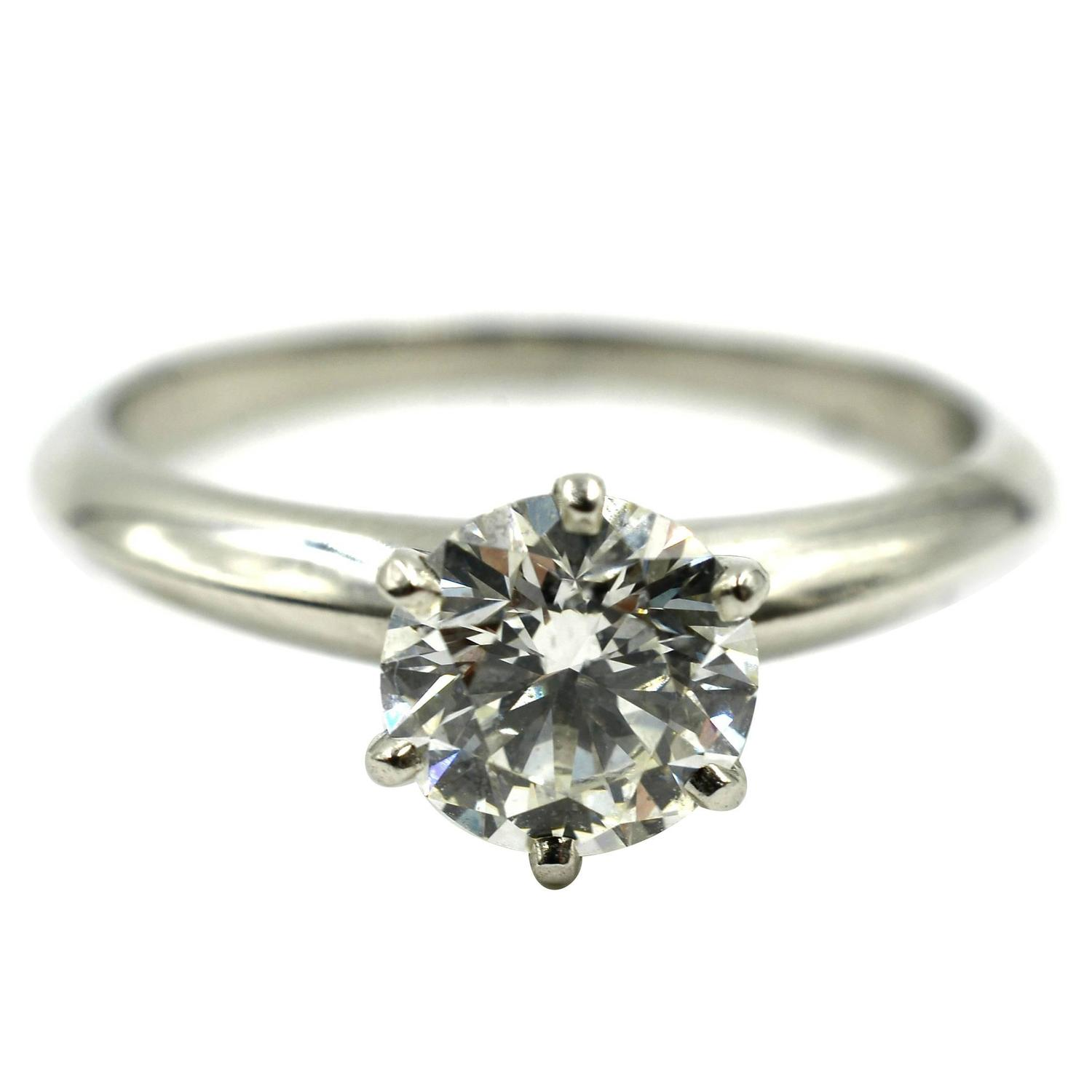 Tiffany and Co 1 33 Carat GIA Cert Diamond Platinum Engagement Ring at 1stdibs