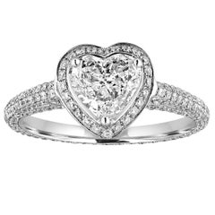 GIA Certified 0.82 Carat G VS1 Heart Shaped Diamond Engagement Ring