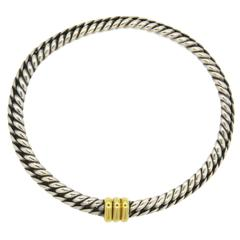 Hermes Sterling Gold Chain Necklace