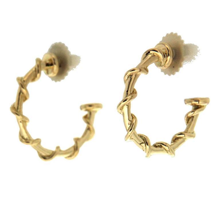 Valentin Magro Medium Gold Rope Hoop Nautical Earrings For