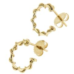 Valentin Magro Small Gold Rope Hoop Nautical Earrings