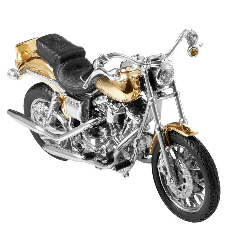 Sterling Silver Gold Harley Davidson Dyna Low Rider, 1999 For Sale