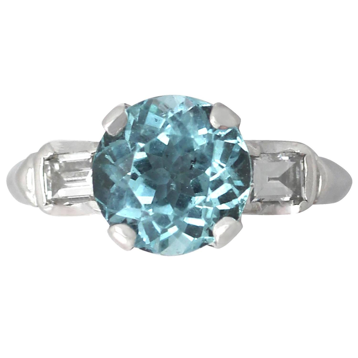 2 45ct aquamarine and 0 40ct 18k white gold dress