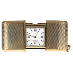 Movado Ermeto Yellow gold Rectangular Travelling Purse Watch