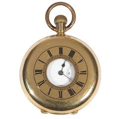 Paillard's Non Magnetic Watch Co of America Gold Half Hunting Case Pocket Watch