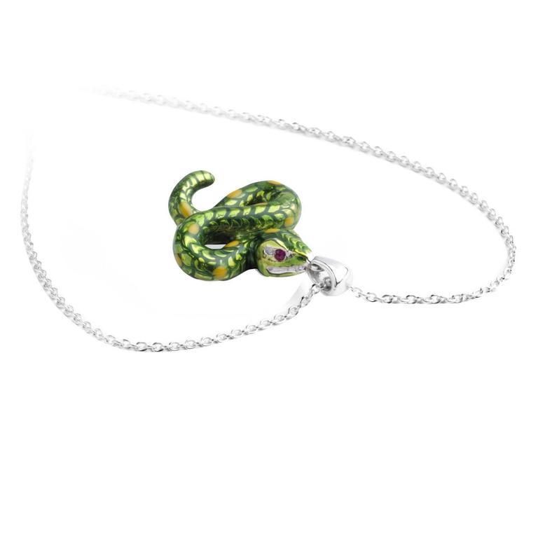 Deakin & Francis Silver Snake Pendant