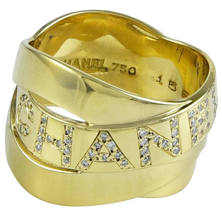 Chanel Diamond Gold band Ring