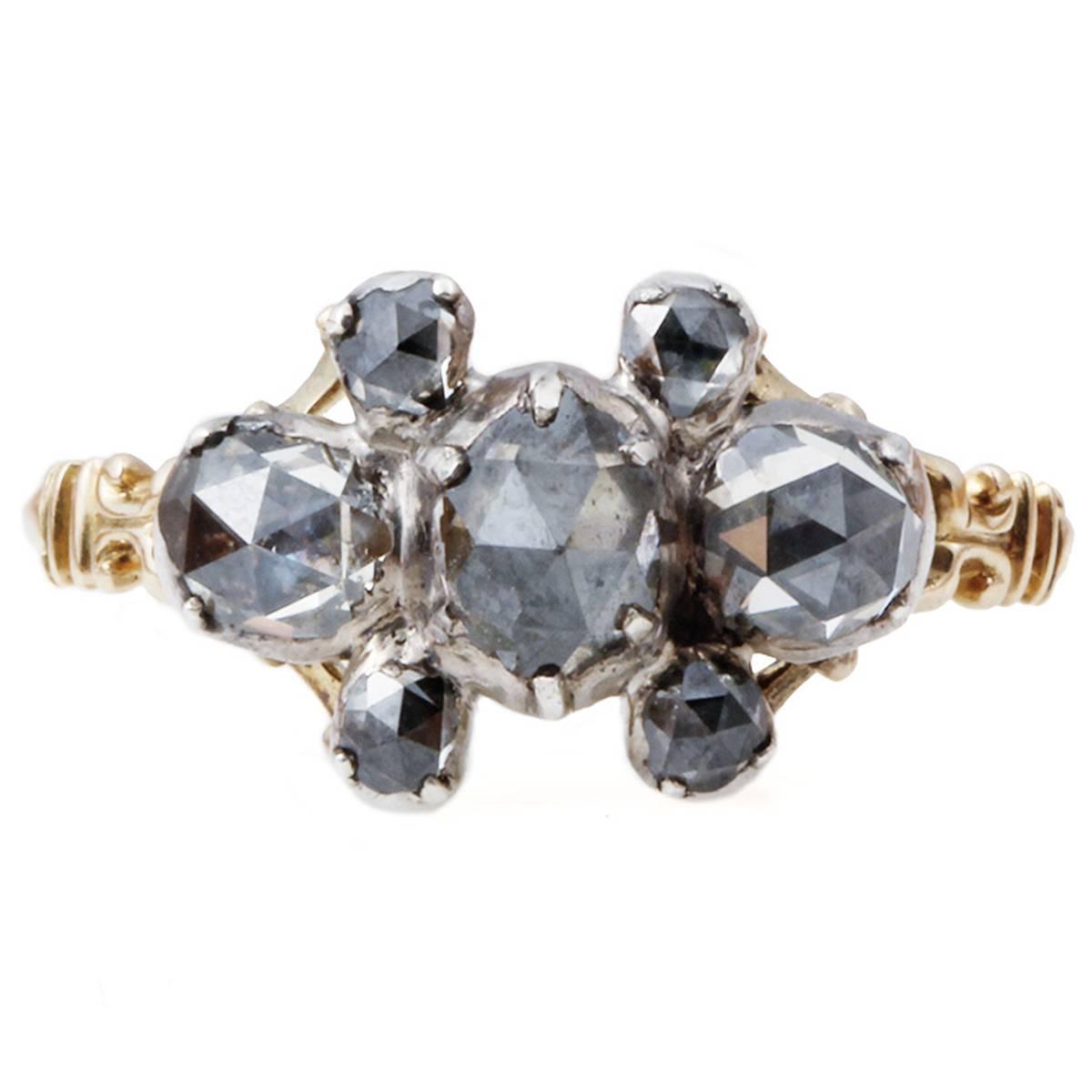 Georgian Rose Cut Diamond Ring at 1stdibs