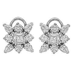 Kwiat Diamond platinum Star Cluster Earrings
