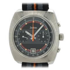 Zodiac Stainless Steel Chronograph Wristwatch circa 1970s