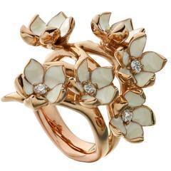 Shaun Leane Diamond Gold Vermeil Full Blossom Ring