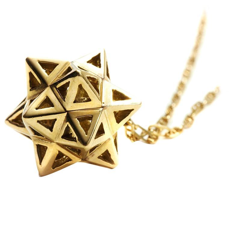 Framed Mini Tetra Gold Necklace