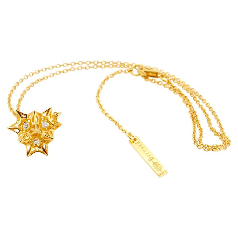 Tria Frame Diamond Gold Necklace