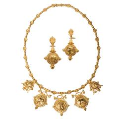 Julius Cohen Necklace and Earrings