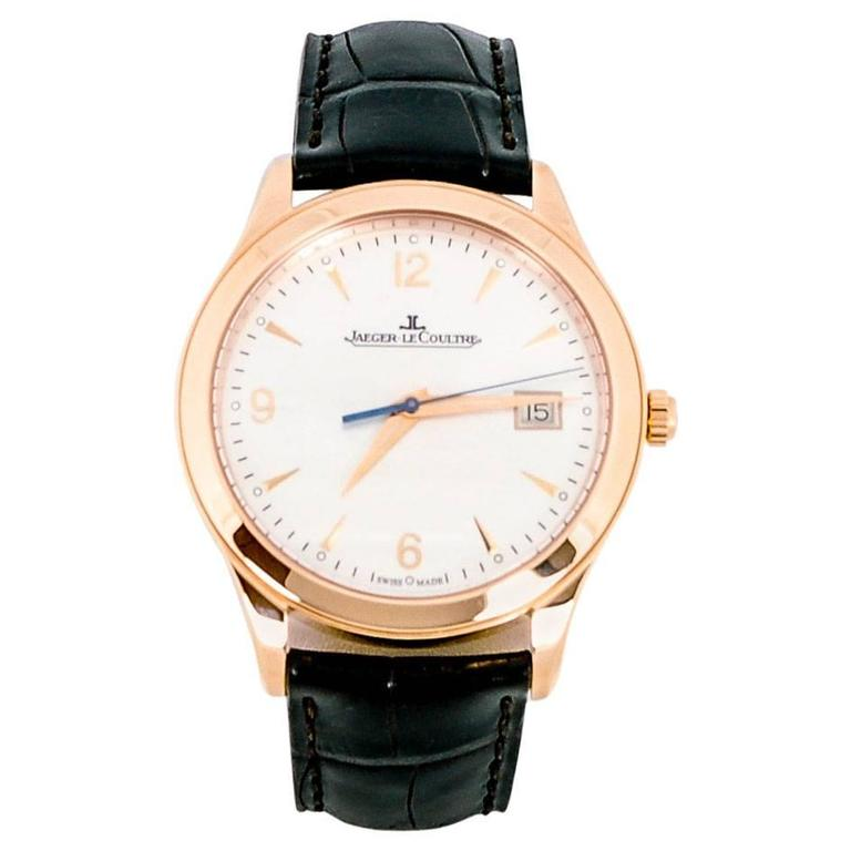 Jaeger LeCoultre Rose Gold Master Control Automatic Wristwatch Ref Q1542520
