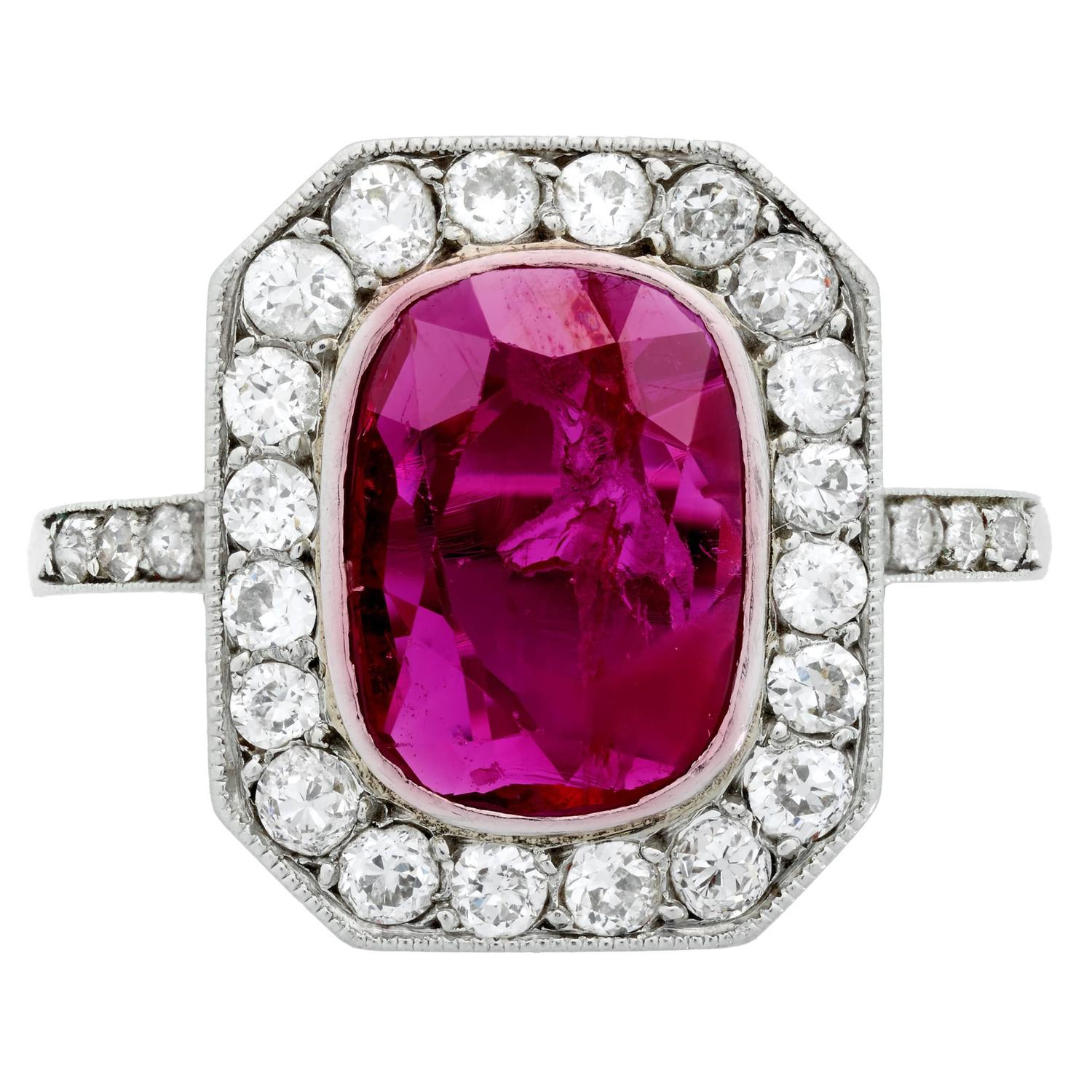 rings engagement ruby and ct diamond natural gold ring