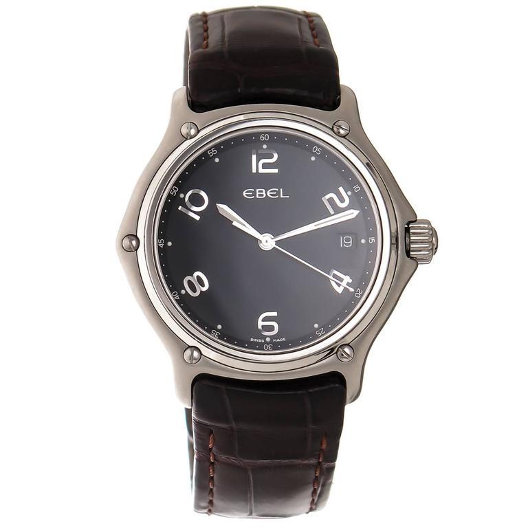 Ebel 1911 stainless Steel Quartz Wristwatch owned and worn by Oprah Winfrey