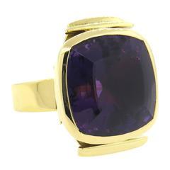 Impressive Large Giorgio Facchini Amethyst Gold Ring