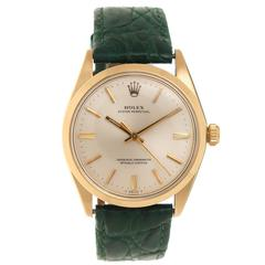Rolex yellow Gold Reference 1005 Self Winding Wristwatch
