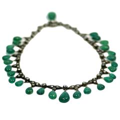 Antique Emerald Drop Necklace