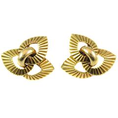 Cartier Paris Retro Gold Ear Clips