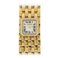 Cartier yellow gold Panthere Ruban Bracelet quartz Wristwatch
