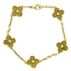 Van Cleef & Arpels Vintage Alhambra Gold Bracelet