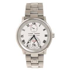 Ulysse Nardin Maxi Marine Ref 263 22 Steel Chronometer Wrist Watch
