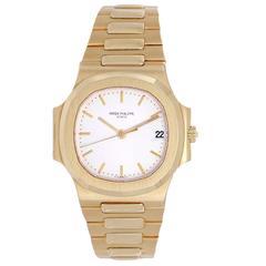 Patek Philippe Yellow Gold Nautilus Automatic Wristwatch